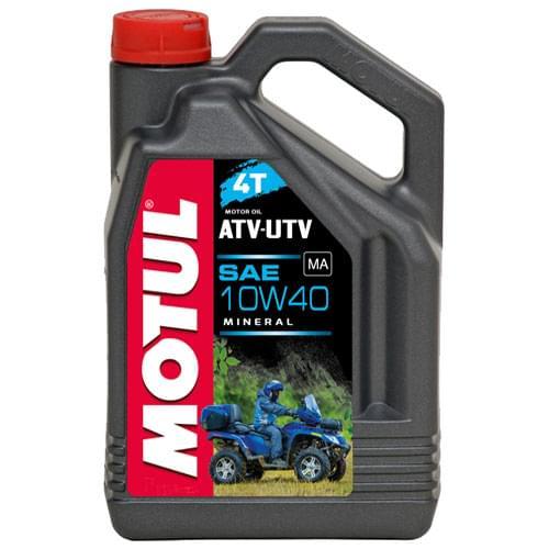 Моторное масло минеральное Motul ATV-UTV 10W40 4T 4 литра